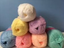 king Cole premier  baby dk 5x 100g yarn value pack in 7 colours job lot