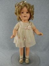 "20"" antique composition Ideal Shirley Temple Doll in tagged Dress & orig pin"