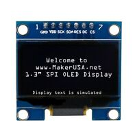 """HQ 1.3"""" 128*64 OLED Graphic Display Module SPI LCD - White"""