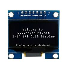 "HQ 1.3"" 128*64 OLED Graphic Display Module SPI LCD - White"