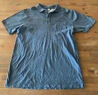 Mens  size L RIP CURL blue  short sleeve POLO  shirt COTTON top RIPCURL