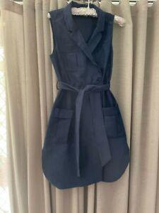 Bardot dress size 10, preowned, jacket dress, navy.