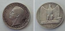REGNO D'ITALIA VITTORIO EMANUELE III - 5 LIRE AQUILINO 1929 2 rosette