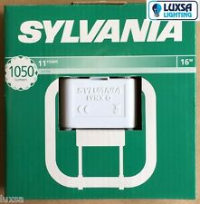 Packs of Sylvania 16W 4 pin White Lynx Q 2D CFL Lamp PLQ SQUARE 3500k 16 Watt