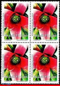 1527 BRAZIL 1977 NATURE PRESERVATION, FLOWERS, FLORA, MI# 1619 C-1006, BLOCK MNH