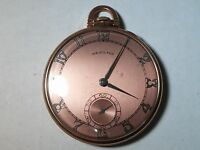 Hamilton pocket watch 917 Rose 10K gold filled, not working