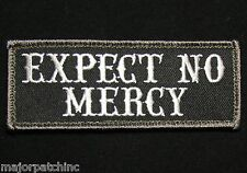 EXPECT NO MERCY USA ARMY BADGE US ISAF SWAT MORALE HOOK PATCH