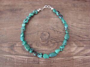 Navajo Indian Hand Strung Darker Turquoise Bracelet - Jake