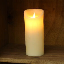 18CM INDOOR BATTERY OPERATED DANCING FLAME MELTED REAL WAX CANDLE LED LIGHT