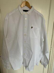 Lyle & Scott Big & Tall BRAND NEW WITH TAGS white Oxford shirt, size 1XL (XXXL)
