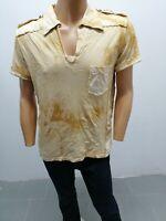 Maglia ROBERTO CAVALLI Uomo T-shirt Man Polo Homme Cotone Taglia size XL 8099