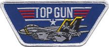 Top Gun Fighter ARMI SCUOLA STATI UNITI BLU NAVY USN a forma di PATCH RICAMATO