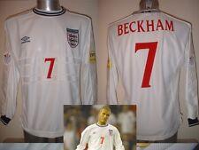 Inghilterra Beckham XXL EURO 2000 L/S MAGLIA JERSEY FOOTBALL SOCCER UMBRO Man Utd