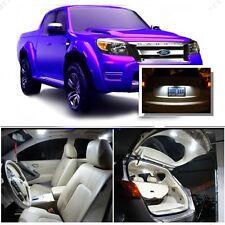 For Ford Ranger 1998+ Xenon White LED Interior kit + White License Light LED