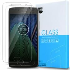 [2-Pack] Exact Moto G5 Plus Tempered Glass Screen Protector Clear , Bubble Free