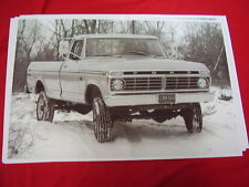 1974  FORD F100 PICKUP  4WD   BIG 11 X 17  PHOTO  PICTURE