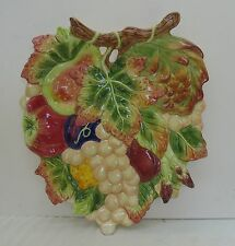 Fitz & Floyd Classics Autumn Plate Platter Branch Leaves Grapes Fruit