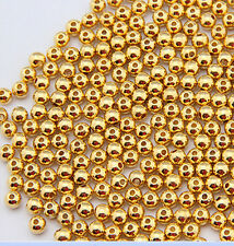 100 pcs gold plated metal ball plunger beads 5mm