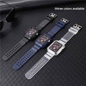 Carbon Fiber Watch Band Case Wrist Strap For Apple Watch Series 6/5/4/3/2/1/SE