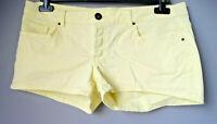 Shorts pantaloncini corti di jeans L 44 46 giallo denim donna elasticizzati