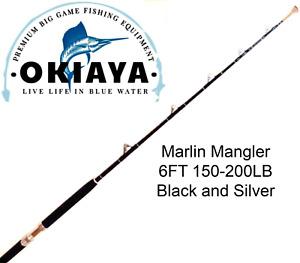 """OKIAYA COMPOSIT 150-200LB """"MARLIN MANGLER"""" SALTWATER BIG GAME ROLLER ROD"""