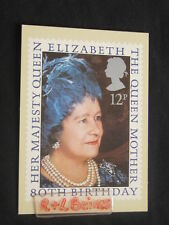 The Queen Mother, 80th Birthday, 12p, Post Office Postcard.