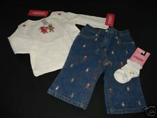 NWT Gymboree Sugar and Spice Top Denim Jeans Sock 6-12