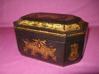 Ancienne boîte à thé époque Napoléon III à décor japonisant
