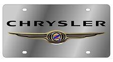 New Chrysler Gold Logo Stainless Steel License Plate