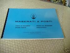 Parts Manuals MASERATI Mistral Due Posti - Teilekatalog - Parti di Ricambi