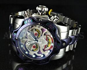 Invicta 52mm DC Comics JOKER Venom Ltd. Ed. Chronograph Silver & Purple SS Watch