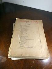 1906 Colorado Geologic Survey Book