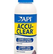 API ACCU-CLEAR 118ml CLEARS CLOUDY WATER TROPICAL FRESHWATER AQUARIUM FISH TANK