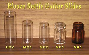 Blooze Bottle Glass Guitar Slides - 5 Slide Sampler - New - Great Tone