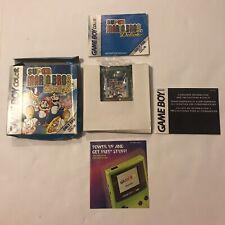 Super Mario Bros. Deluxe Nintendo Game Boy Color COMPLETE IN BOX CIB