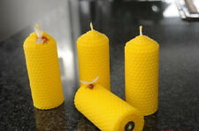 4 Candles 100% Bees Wax Handmade Bees Wax Candles naturkerzen