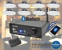 Restaurant Cafe Bluetooth Amplifier Ceiling Speaker System Kit Choose 2,4,8 NEW