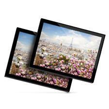 2 x Glass Placemats 20x25 cm - Paris France City View Landscape  #21993