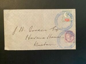1900 Boer War Cover with Large Blue Army Post Office Volksrust CDS to Durban