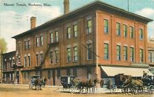 1911 Fraternal Masonic Temple Rochester Minnesota Crowell postcard 2980