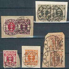 Danzig Lot/Posten mit 5 Briefstücke Mi.-Nr.93,95,103,110,111 o