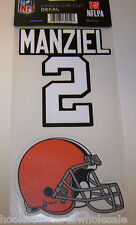 Johnny Manziel Cleveland Browns Color Ultra Decal - 2 pack
