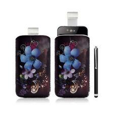 Housse coque étui pochette pour LG Optimus Black P970 avec motif + Stylet luxe