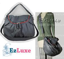 celebrity designer Red Green Zipper Crossbody Shirred Hobo Large Shoulder Bag