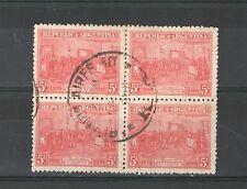 R309 - ARGENTINA 1916 - QUARTINA USATA COMMEMORATIVA TEMATICA N. 201 - VEDI FOTO