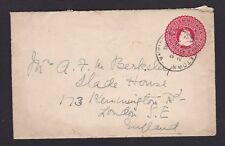 British Guiana 1915 Postal Stationery Stamped Cover 2c Georgetown to London GB