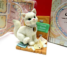 New listing Calico Kittens This House Under Feline Management White Kitty Cat Figurine