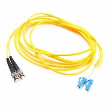 3m ST to LC Fiber Optic SingleMode 9/125 Optical Duplex Patch Cord Cable Yellow