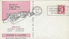 1962 QE II Wilding #339p 3 cent carmine TAGGED FDC with Winnipeg CofC cachet