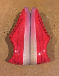 Puma Basket Patent Ice Fade Size 11.5 US Barbados Cherry Shoes Sneakers